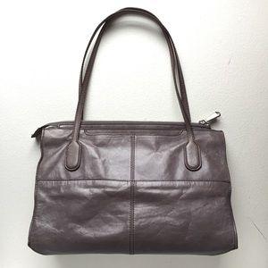 2a4dc21a61ac HOBO Bags - Hobo FRIAR leather shoulder bag satchel in GRANITE